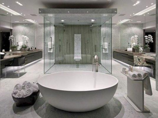 Kính vách ngăn phòng tắm